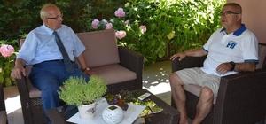 Başkan Albayrak'tan Başkan Baysan'a geçmiş olsun ziyareti
