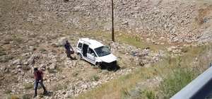 Sivas'ta otomobil şarampole yuvarlandı: 5 yaralı