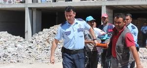 İnşaattan düşen işçiyi inşaat koruma filesi kurtardı
