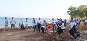 Mezitli'de sahil temizliği