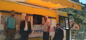 Mobilize PTT aracı Çaltı Köyü halkının ayağına gitti