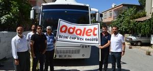 CHP Besni Teşkilatı yola çıktı