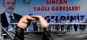 Sincan Yağlı Güreşleri'ne vatandaşlardan yoğun ilgi