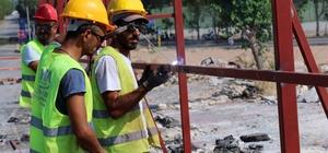 Kepez- Santral'de şantiyeler kuruluyor