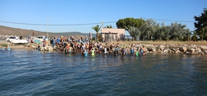 Sporcular, Urla Aquatlon finalinde kıyasıya yarıştı