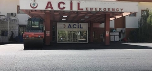 Şırnak Devlet Hastanesi acil servis girişi asfaltlandı