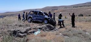 Niğde'de hafif ticari araç takla attı: 1 yaralı