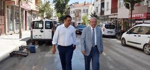 Başkan Kadir Albayrak, Prestij Caddesi'nde incelemelerde bulundu