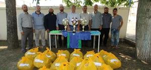 Yaz kuran kursu öğrencileri futbol turnuvasına tam destek