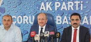 AK Parti Çorum il Başkanı Mehmet Karadağ;