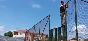 Kapalı pazaryerinde güvenlik önlemi alındı