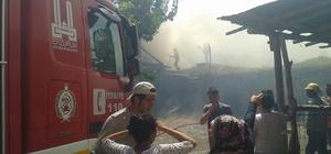 Vişneli Köyü'nde korkutan yangın