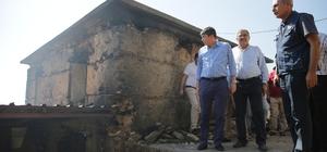 Alanya'daki yangınzedelere Büyükşehir yardım elini uzattı