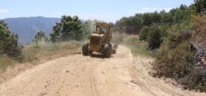 Büyükşehir yol ekipleri çalışmalarını Kuyucak'ta sürdürüyor