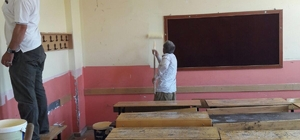 Çaldıran Belediyesinden okul onarımı