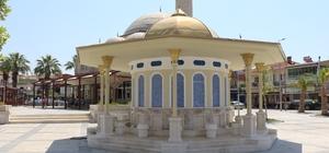 Germencik Kent Meydanı'nda yapımı tamamlanan şadırvan göz kamaştırıyor