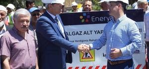 Sultanhanı beldesinde doğalgaz altyapı temeli törenle atıldı