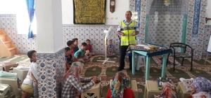 Mut'ta öğrencilere trafik eğitimi verildi