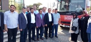 Üsküdar Belediye Başkanı Hilmi Türkmen darbe davaları için Silivri'ye gitti