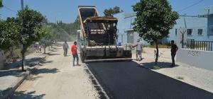 Ceyhan'da altyapısı tamamlanan bulvarlar asfaltlanıyor