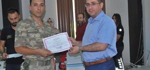 Jandarma personeline temel ilk yardım uygulayıcı eğitimi düzenlendi