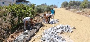 Germencik Belediyesi Ortaklar'da üst yapı çalışmalarını sürdürüyor