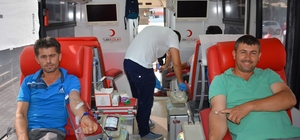 Korkuteli'de 9 günde 552 ünite kan toplandı
