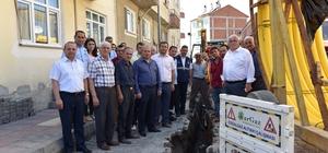 Taşköprü'de doğalgaz çalışması başladı
