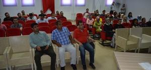 Besni'de sosyal hizmet müdürlüğü çalışma alanları sağlık çalışanlarına anlatıldı