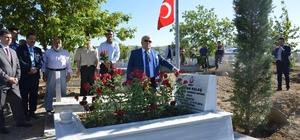 ali Şentürk, 15 Temmuz Şehidinin anısına yapılan saat kulesinde incelemede bulundu