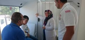 Giresun Belediyesi gezici sağlık otobüsü hizmet vermeye devam ediyor