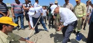 Saruhanlı'da 15 Temmuz şehitleri için fidan dikildi