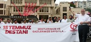 Eyüplü vatandaşlar 15 Temmuz şehitleri için pedal çevirdi