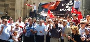 Cumhurbaşkanı Erdoğan'a teslim edilecek 2 Türk bayrağı Kütahya'dan yola çıktı