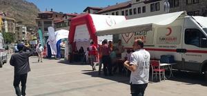 Gümüşhane'de sağlık kurumlarından 15 Temmuz için kan bağışı kampanyası