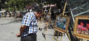 Kahta'da 15 Temmuz resim sergisi açıldı