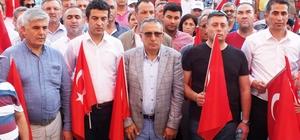Serik'te 15 Temmuz Şehitlerini Anma, Demokrasi ve Milli Birlik Yürüyüşü yapıldı