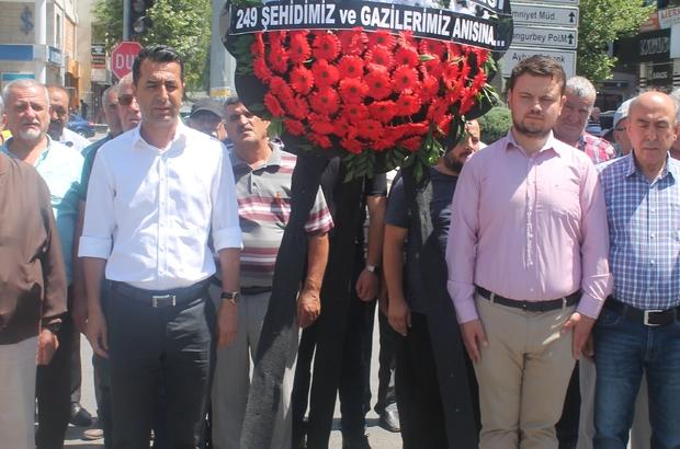 CHP Niğde teşkilatı 15 Temmuz şehitleri anısına çelenk bıraktılar