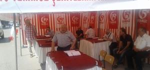 Kırklareli'nde 15 Temmuz Anı Defteri çadırı kuruldu