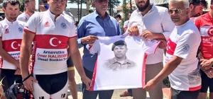 Arnavutköy'den yola çıkan bisikletliler Şehit Ömer Halisdemir'in kabrine ulaştı