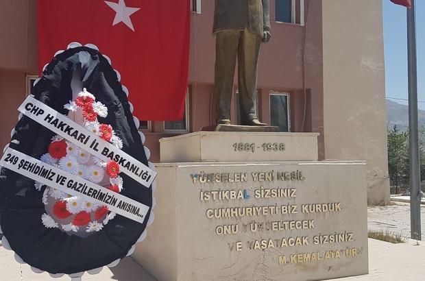 CHP 15 Temmuz yıl dönümünde anıta çelenk sundu