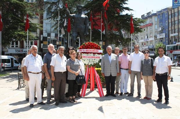 CHP Tokat İl Başkanlığı'ndan 15 Temmuz çelengi