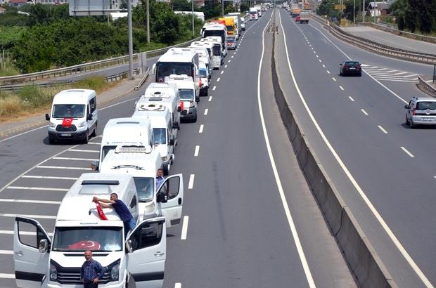 Altınova'da 15 Temmuz konvoyu