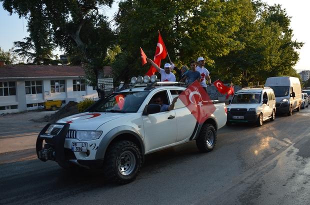 """Niksar'da Off-roadlı """"Milli Birlik Yürüyüşü"""" yapıldı"""