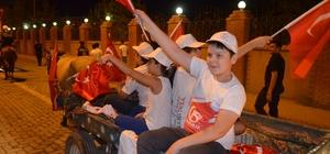 """Iğdır'da """"Milli Birlik"""" yürüyüşü düzenlendi"""