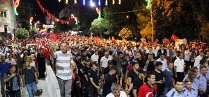 Manisa'da on binler 15 Temmuz şehitleri için yürüdü
