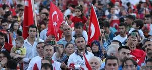 Kayseri'de 15  Temmuz Demokrasi ve Milli Birlik Günü etkinlikleri coşkulu geçti