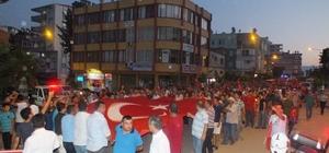 """Anamur'da """"15 Temmuz"""" yürüyüşü"""