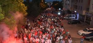 Malkara'da Demokrasi ve Milli Birlik yürüyüşü