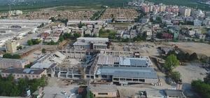 Türkiye'nin en büyük spor kompleksi Yıldırım'da hızla yükseliyor